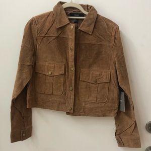 Jackets & Blazers - Camel color suede jacket